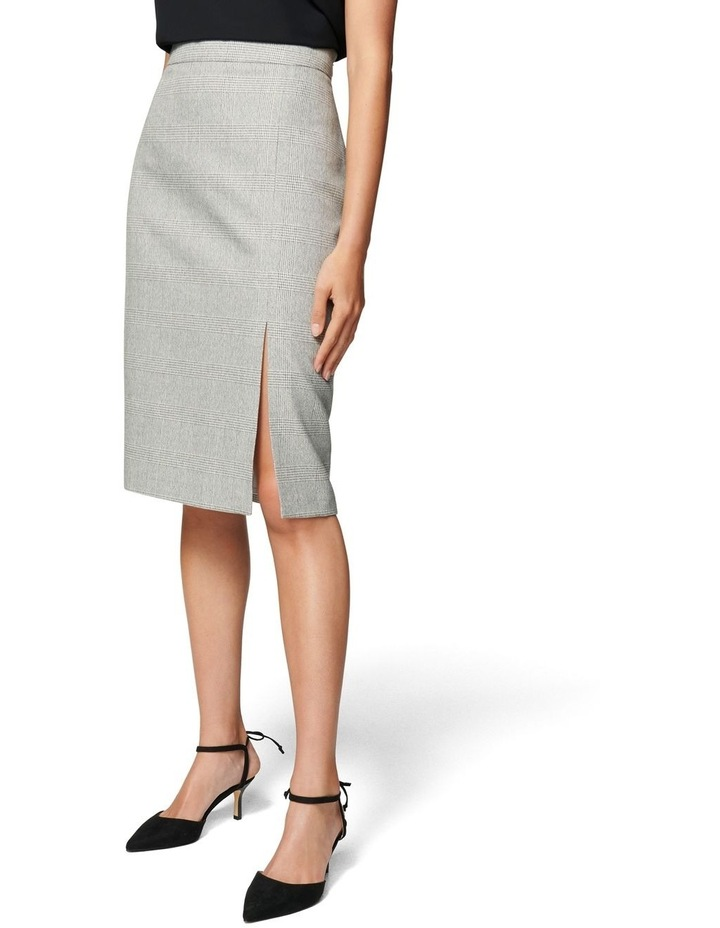 Kylie Check Split Midi Skirt image 2