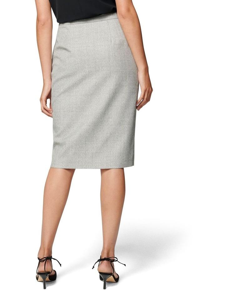 Kylie Check Split Midi Skirt image 3