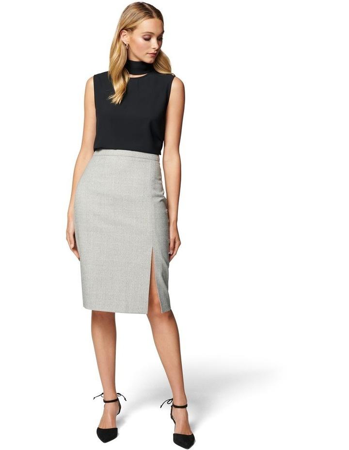 Kylie Check Split Midi Skirt image 4