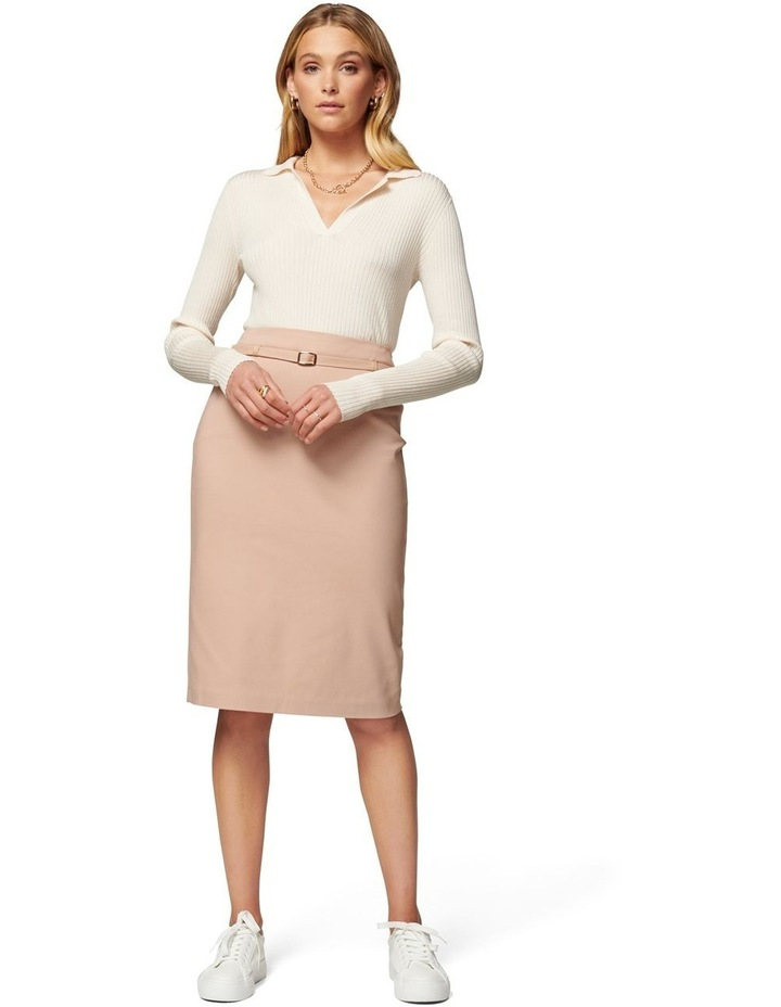 Nadia Belted Pencil Skirt image 5
