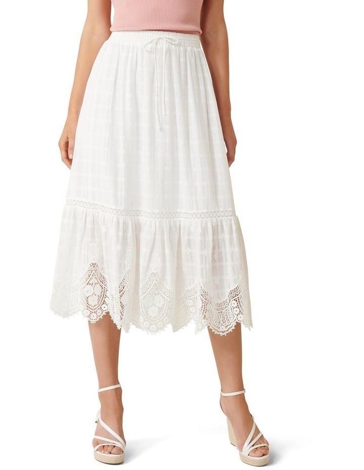 Willow Scallop Hem Midi Skirt image 1