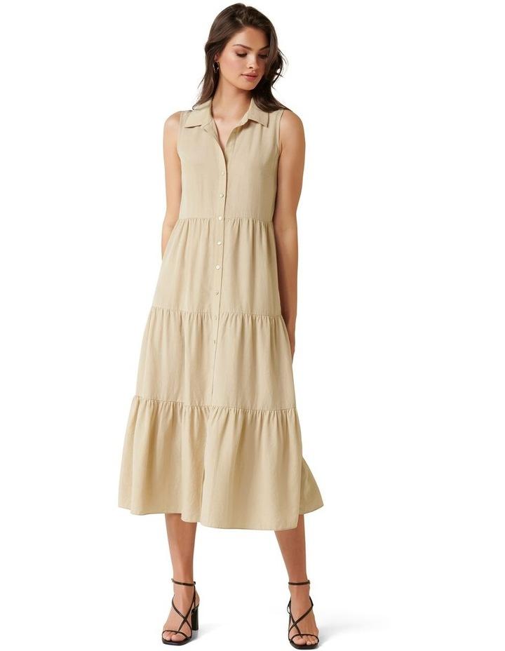 Megan Sleeveless Shirt Maxi Dress image 1