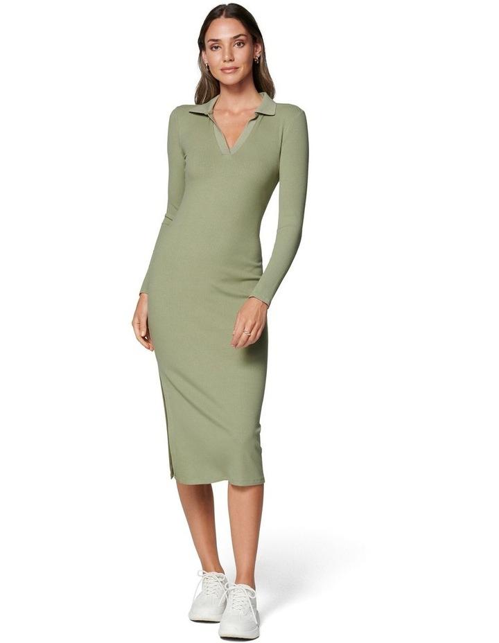 Parker Long Sleeve Rib Polo Dress image 1