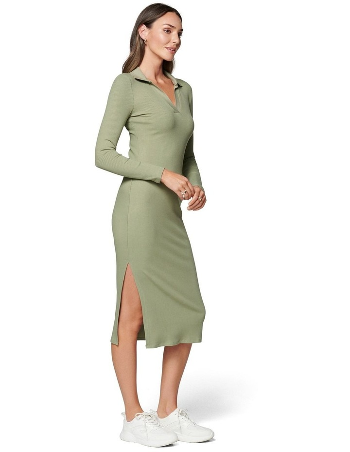 Parker Long Sleeve Rib Polo Dress image 3