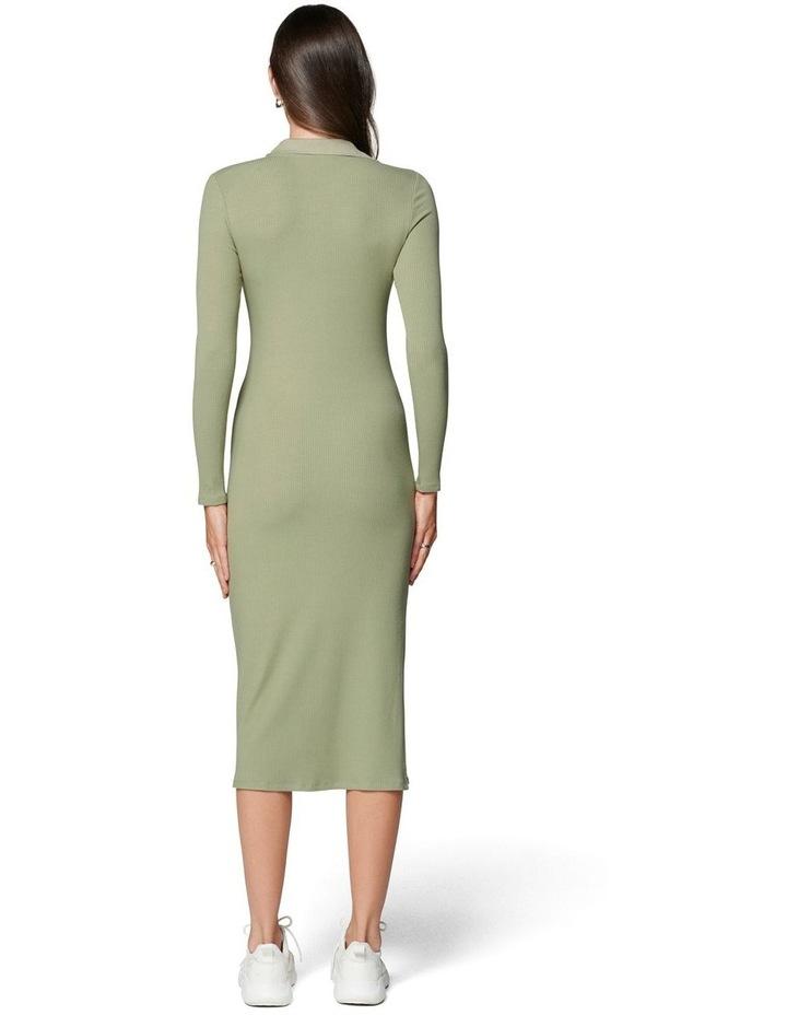 Parker Long Sleeve Rib Polo Dress image 4