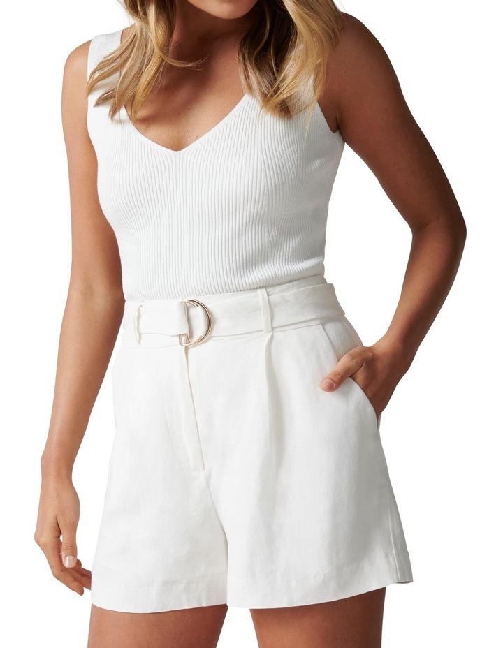 Clara Belted Linen Blend Shorts image 2