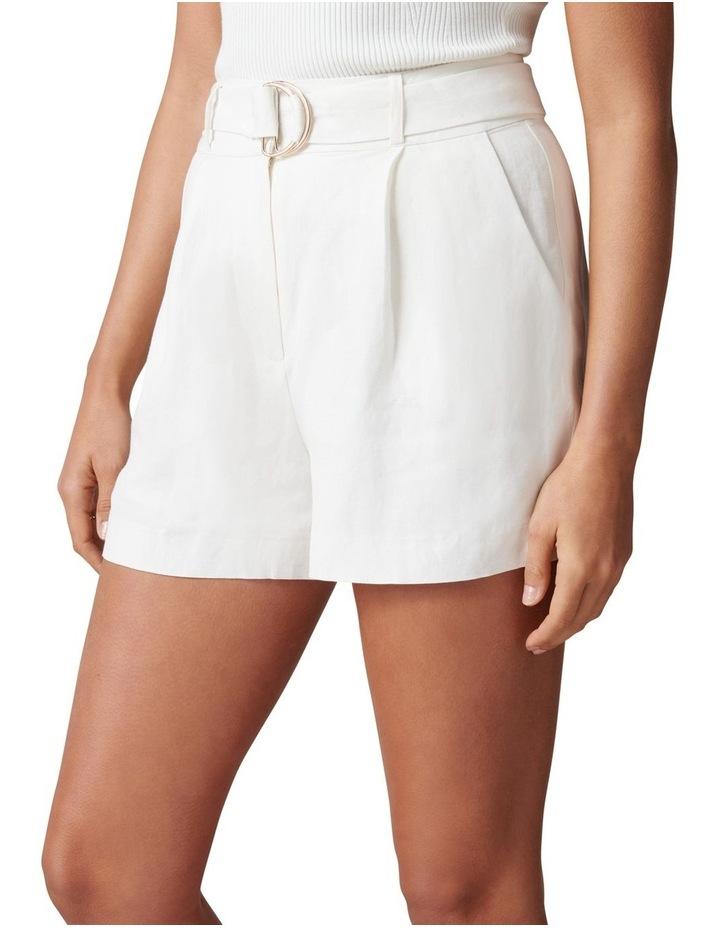 Clara Belted Linen Blend Shorts image 3