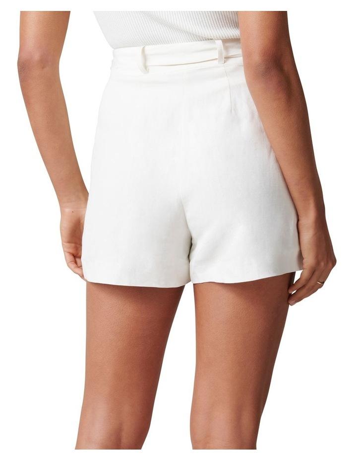 Clara Belted Linen Blend Shorts image 4
