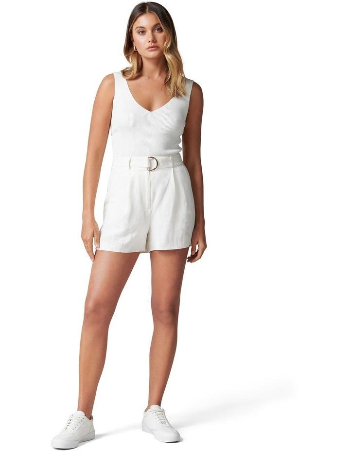 Clara Belted Linen Blend Shorts image 5
