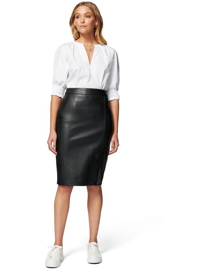 Emilia Vegan Leather Split Midi Skirt image 4
