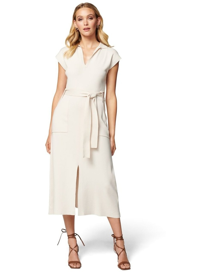 Mari Collar Fit And Flare Knit Dress image 1