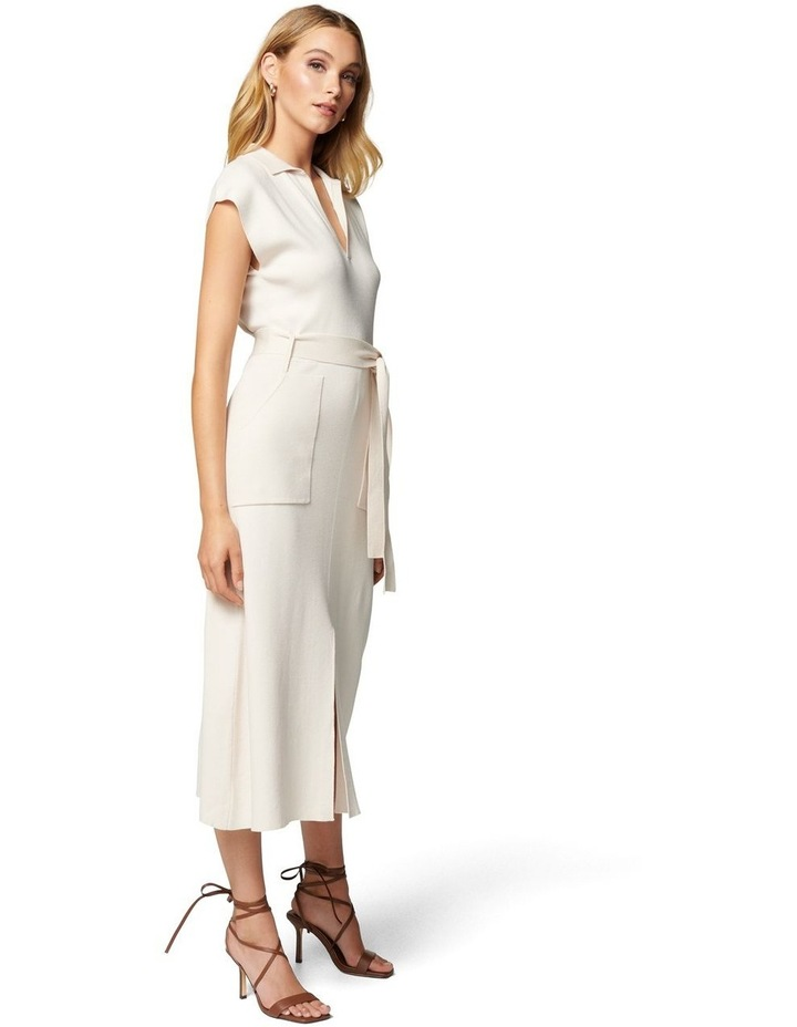 Mari Collar Fit And Flare Knit Dress image 3
