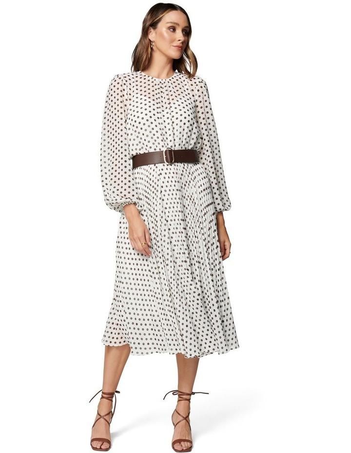 Fiona Pleat Belted Midi Dress image 1