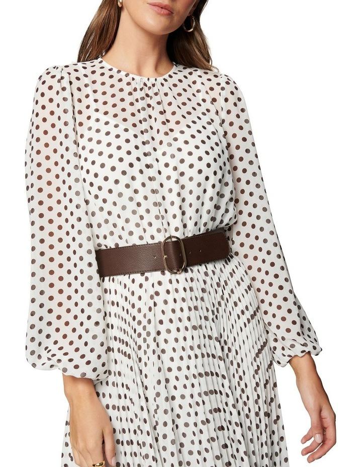 Fiona Pleat Belted Midi Dress image 3