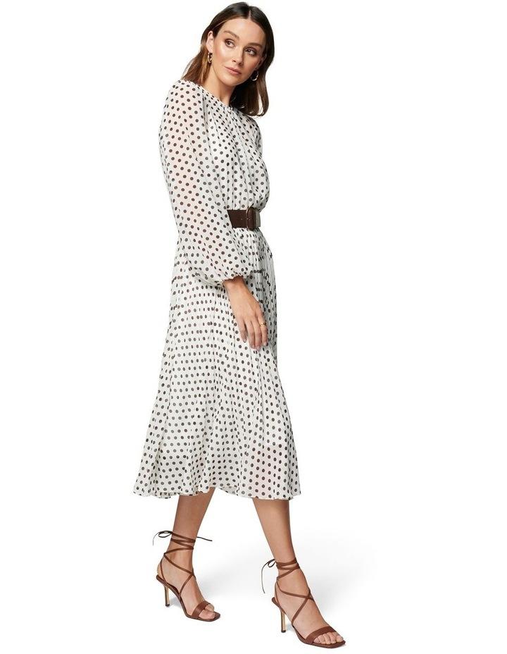 Fiona Pleat Belted Midi Dress image 4