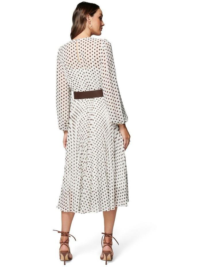 Fiona Pleat Belted Midi Dress image 5