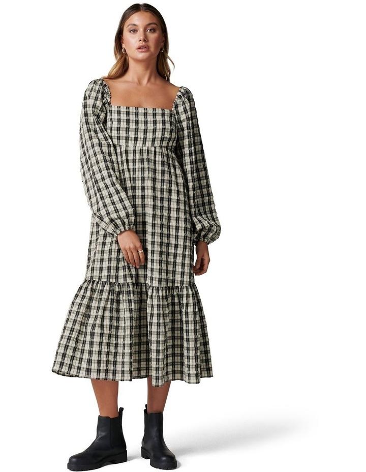 Clover Check Midi Dress image 1