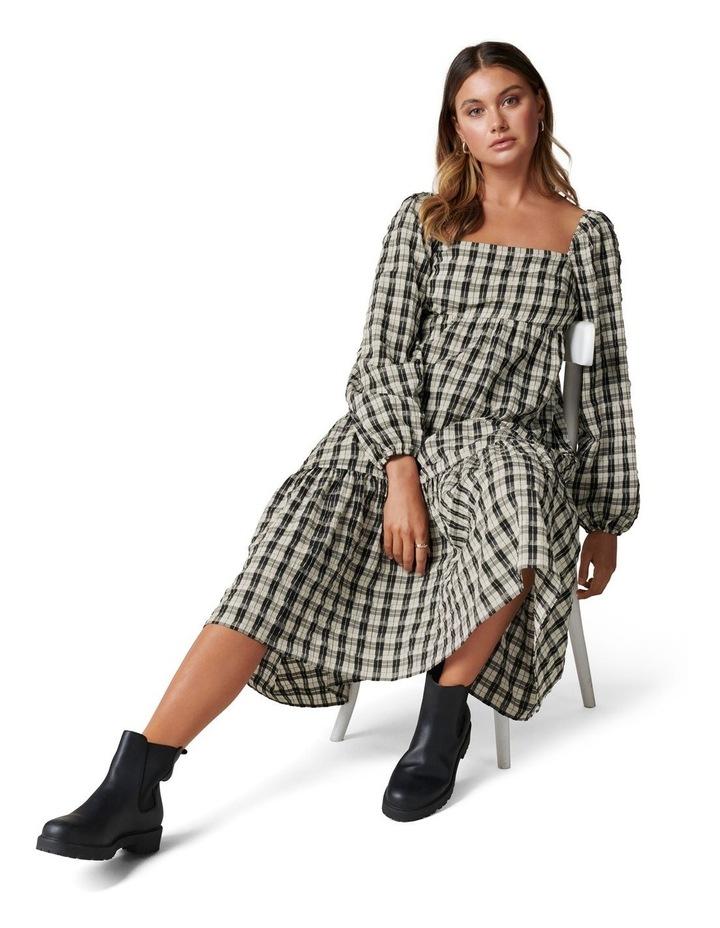Clover Check Midi Dress image 2