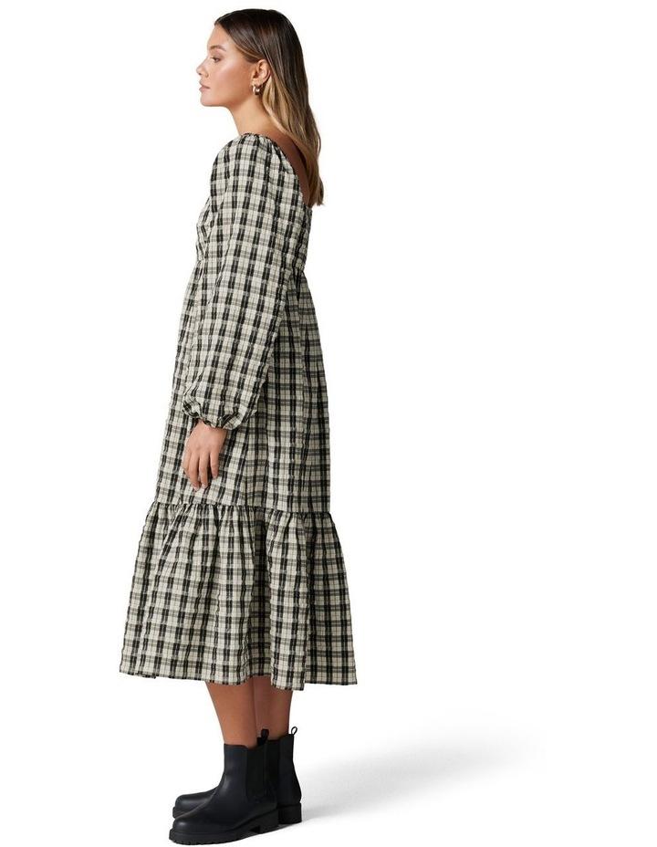 Clover Check Midi Dress image 3