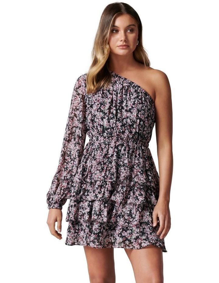 Priya Ruffle One Shoulder Mini Dress image 1