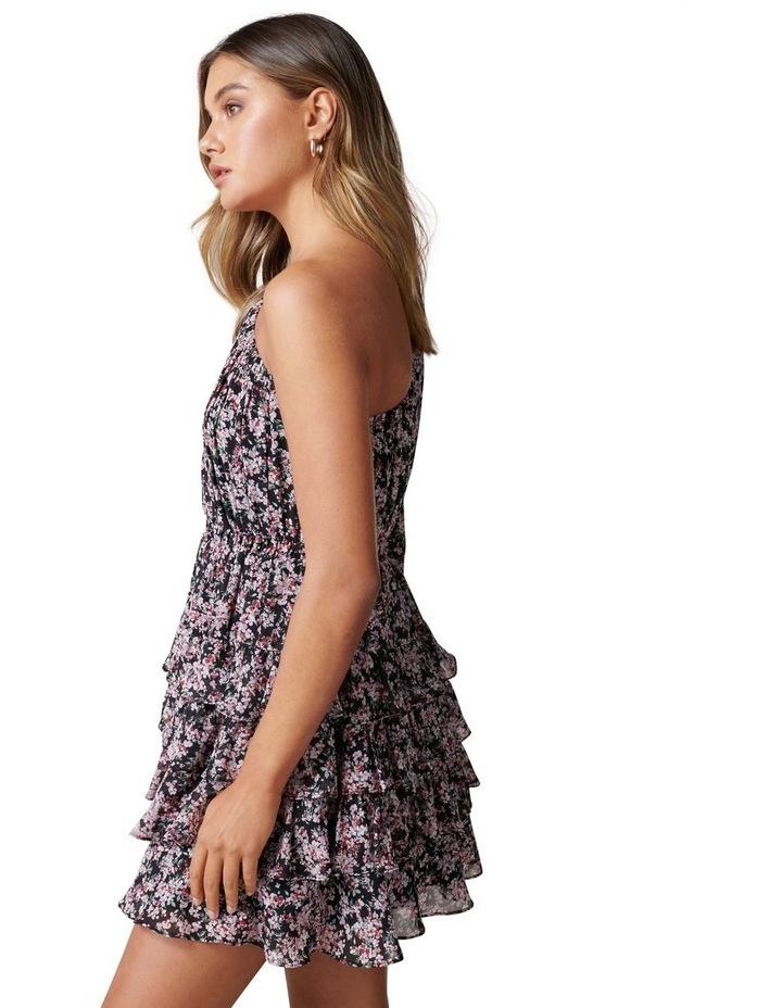 Priya Ruffle One Shoulder Mini Dress image 3