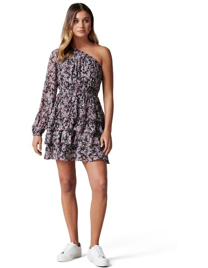 Priya Ruffle One Shoulder Mini Dress image 5