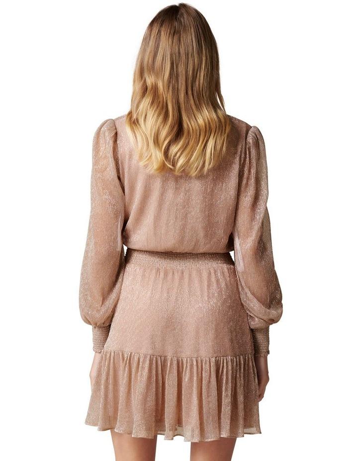 Perla Plisse Flippy Mini Dress image 4