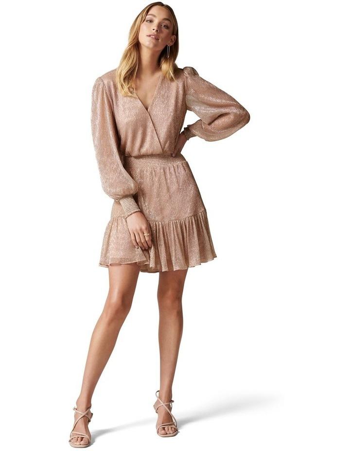 Perla Plisse Flippy Mini Dress image 5