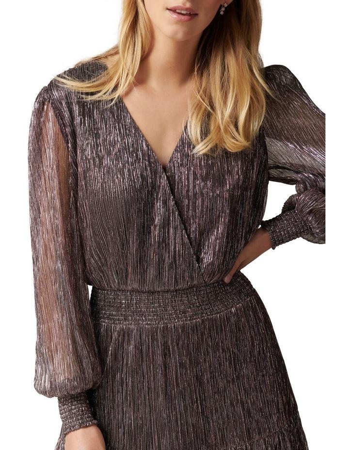 Perla Plisse Flippy Mini Dress image 2