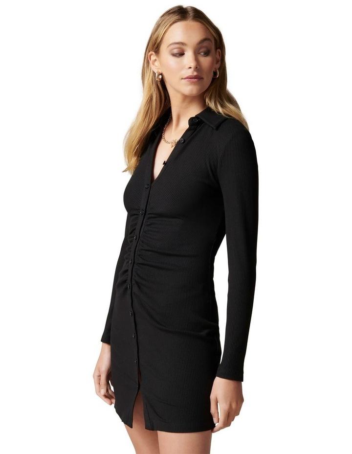 Tara Ruched Jersey Shirt  Dress image 3