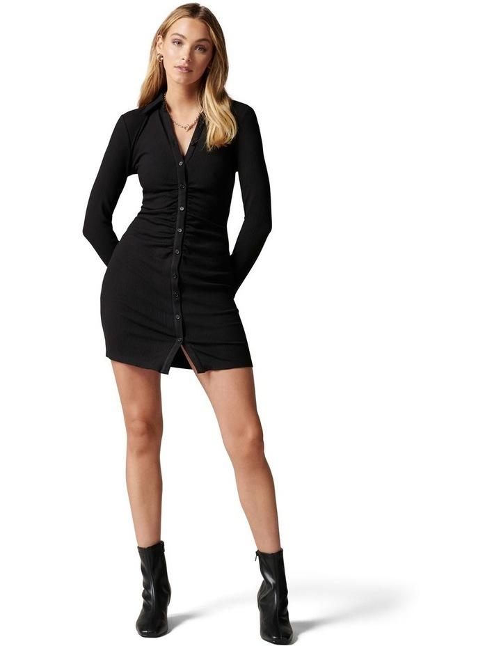 Tara Ruched Jersey Shirt  Dress image 5