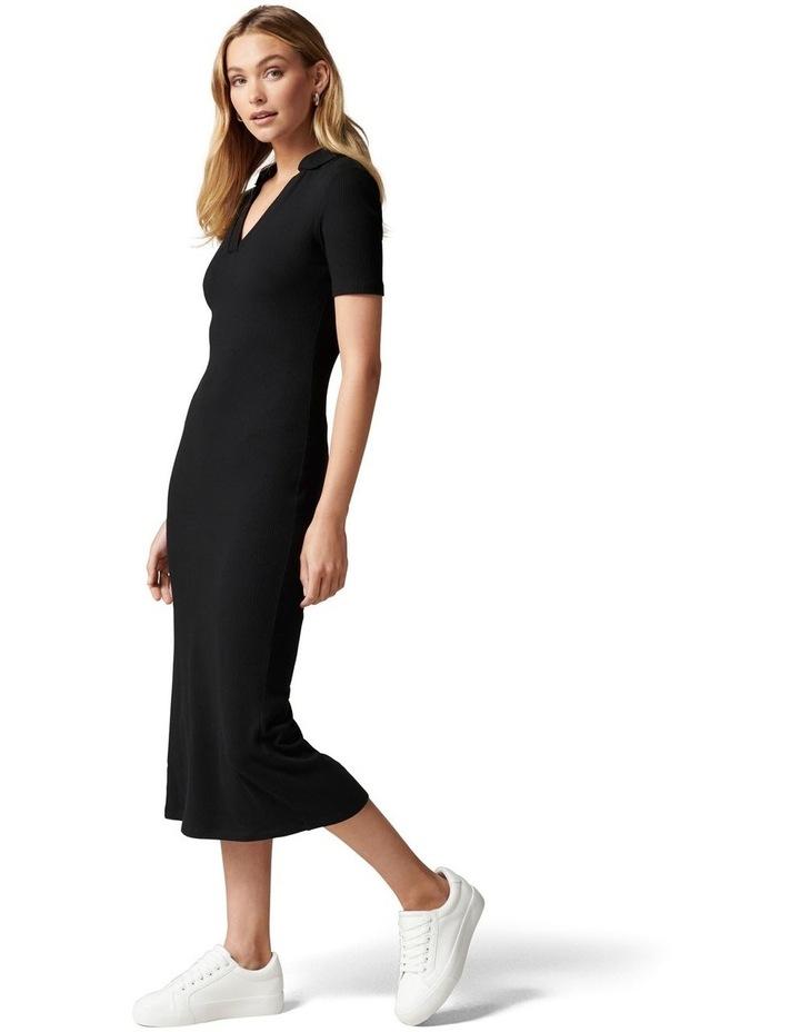 Parker Short Sleeve Rib Polo Dress image 3