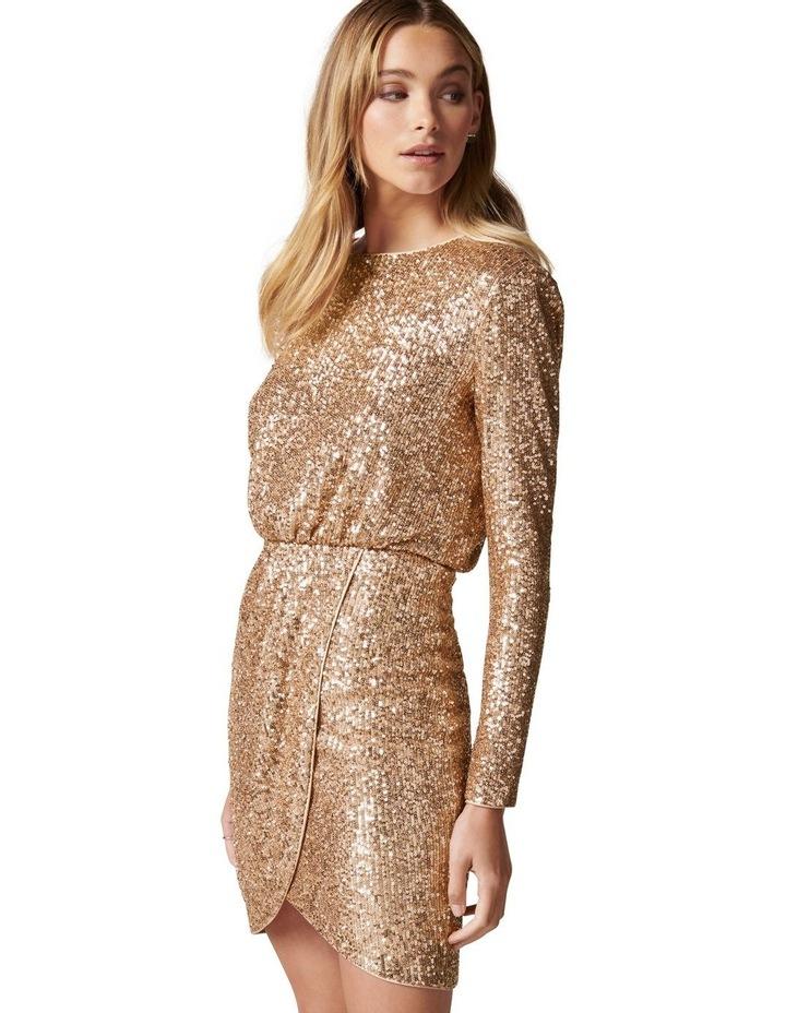 Juniper Sequin Wrap Mini Dress image 3