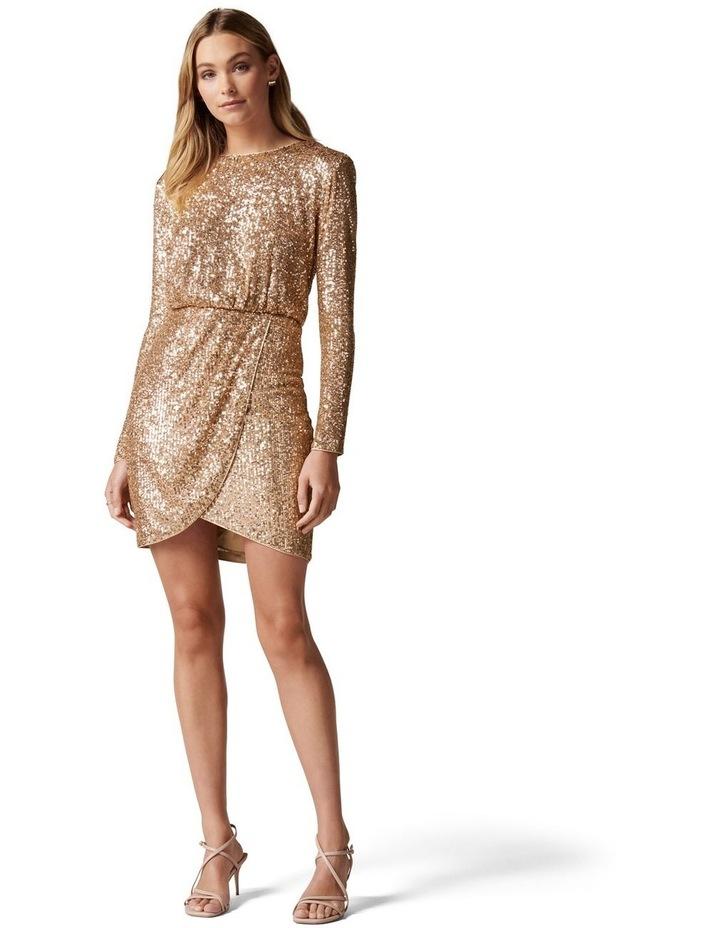 Juniper Sequin Wrap Mini Dress image 5