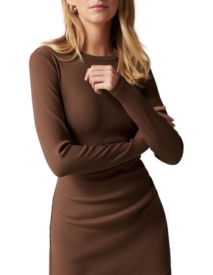 Annie Rib Long Sleeve Frill Dress image 2