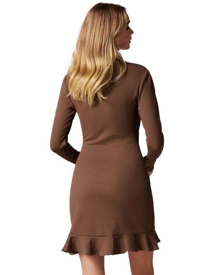 Annie Rib Long Sleeve Frill Dress image 4