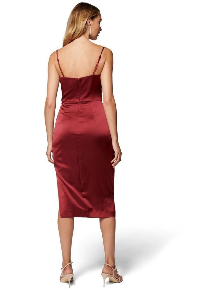 Laura Satin Cowl Ruched Midi Dress image 4