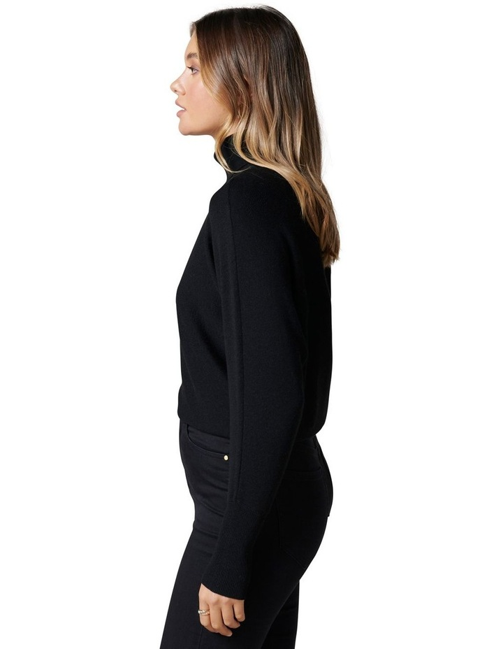 Layla Roll Neck Batwing Knit Jumper image 3