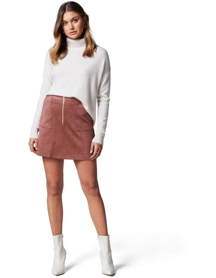 Elisa Zip Front Suedette Mini Skirt image 5