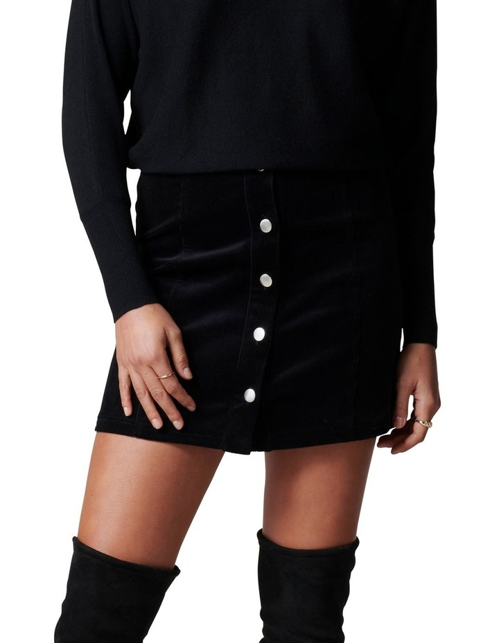 Aurora Button Cord Mini Skirt image 1