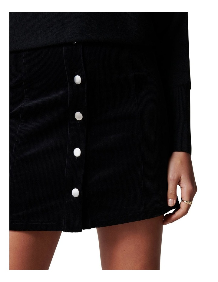Aurora Button Cord Mini Skirt image 2