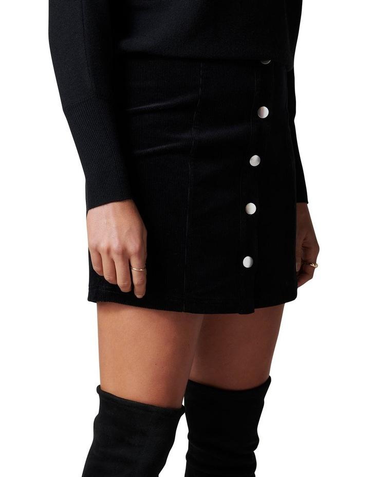 Aurora Button Cord Mini Skirt image 3