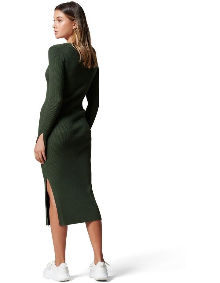 Kourtney V Neck Rib Knit Dress image 4