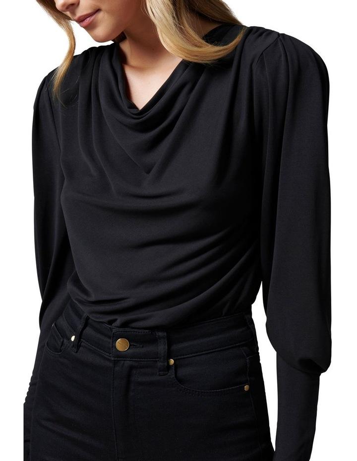 Jennifer Drape neck blouson sleeve image 2