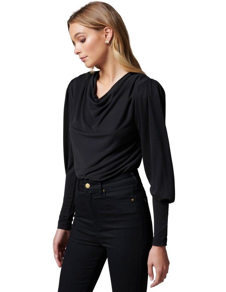 Jennifer Drape neck blouson sleeve image 3