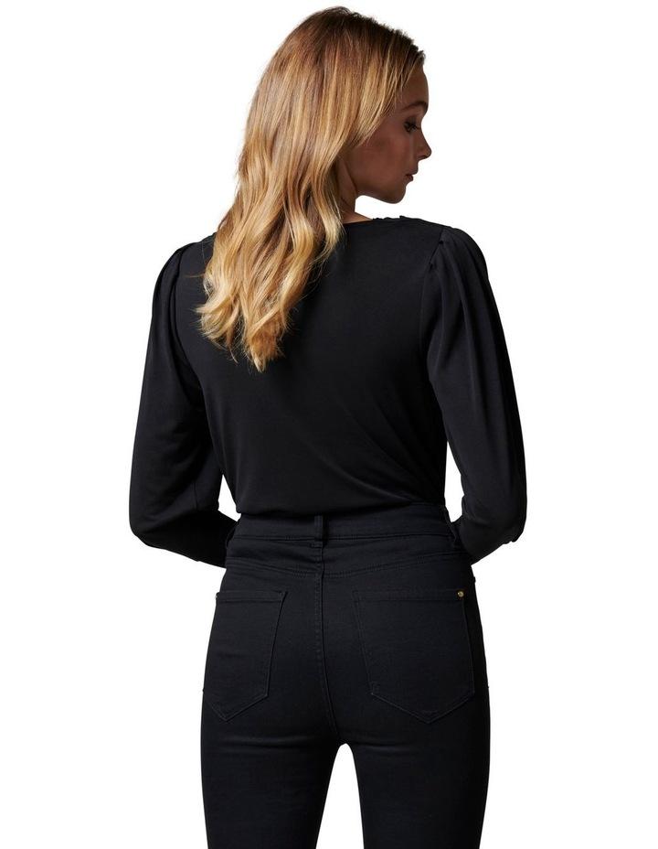 Jennifer Drape neck blouson sleeve image 4