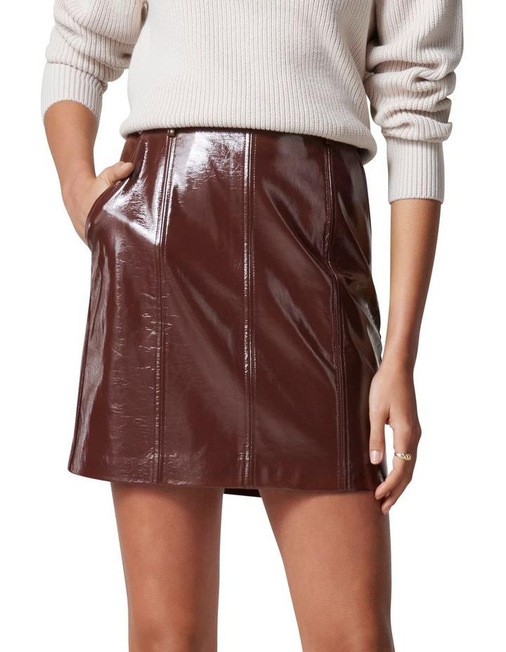 Frankie High Shine PU Mini Skirt image 1