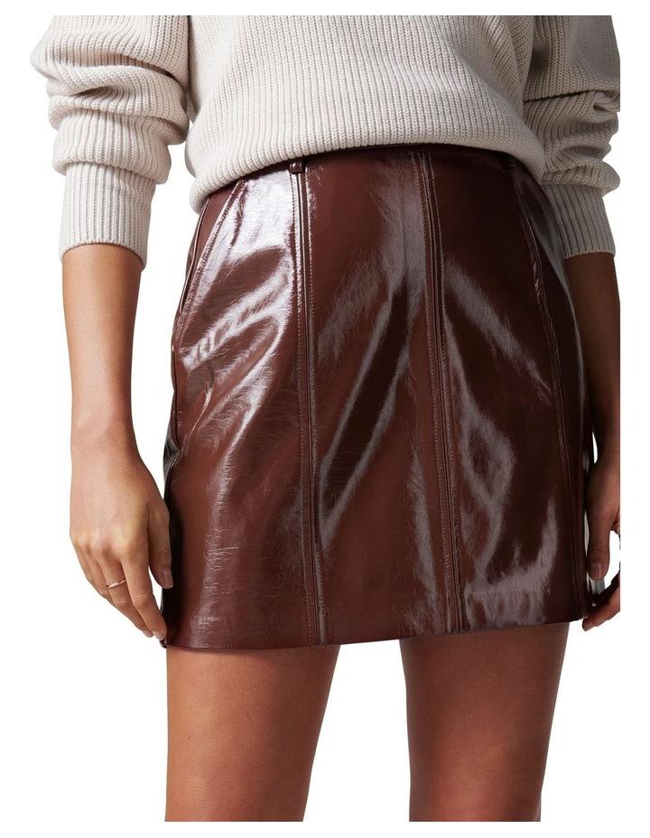 Frankie High Shine PU Mini Skirt image 2
