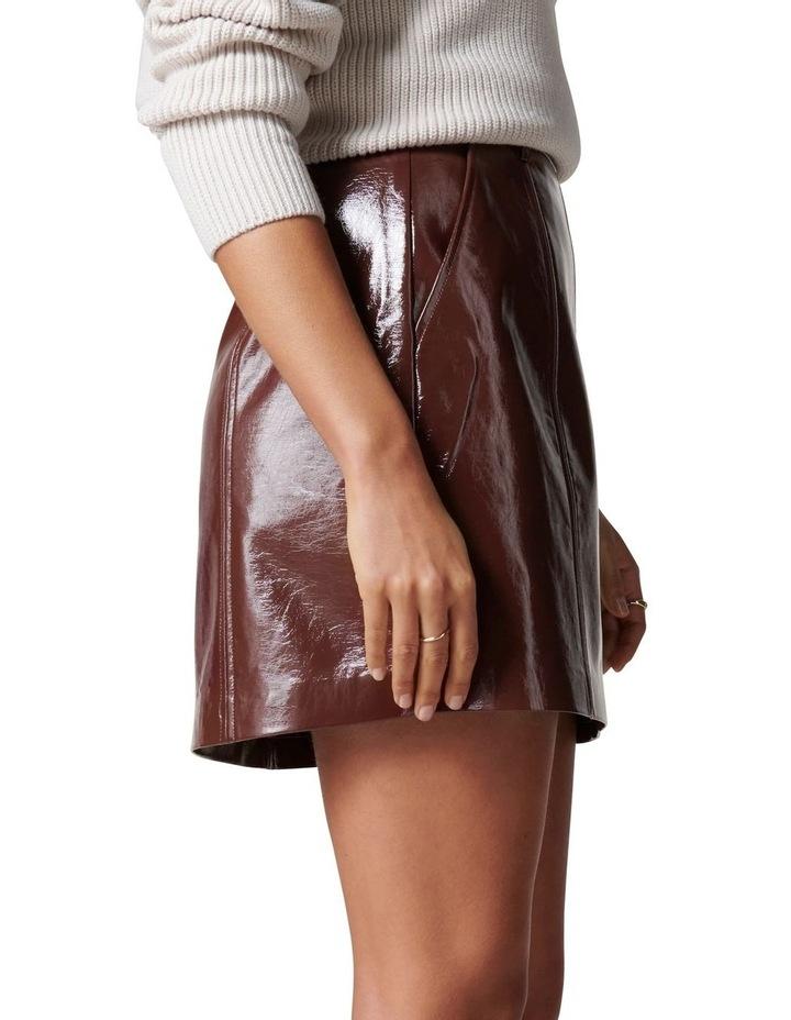 Frankie High Shine PU Mini Skirt image 3