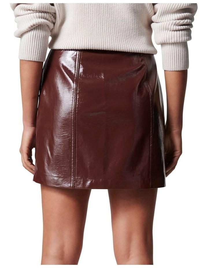 Frankie High Shine PU Mini Skirt image 4